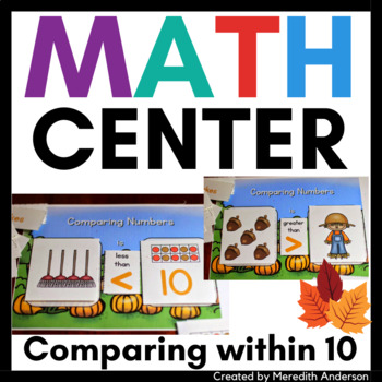http://www.teacherspayteachers.com/Product/Autumn-Math-Center-Pumpkin-Patch-Compare-1525547