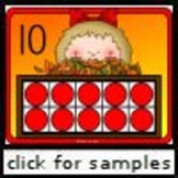 Autumn Ten Frame Posters and Flash Cards (K.CC.4, K.CC.5)