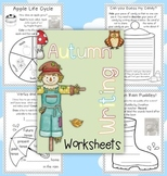 Autumn Writing Worksheets {about Autumn, Word Work and Rea