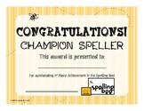 Artsy Teacher Cafe - Award Certificates SPELLING BEE Set/4