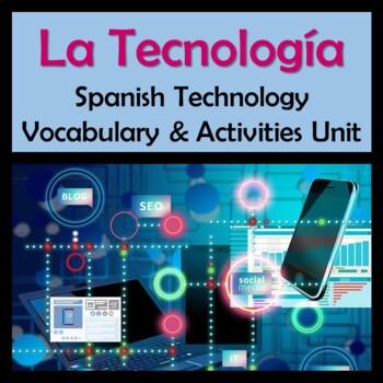 Awesome Spanish Technology Vocabulary & Activities Unit /