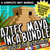 Aztec, Maya, Inca Activity and Note Bundle Common Core Grade 5-8