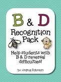 B & D Recognition Pack - Help with reversal difficulties
