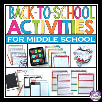 BACK TO SCHOOL ACTIVITY BUNDLE: Fun Assignments For The First Days Of School