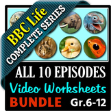 BBC Life - All 10 Episodes - Video Questions Worksheets Bu