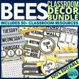 BEES Classroom Theme EDITABLE Decor 34 Printable Product Bundle