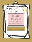 BINGO MOOOOOO!!! First Grade Sight Words (Common Core Standards)
