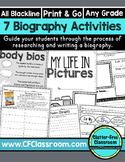 BIOGRAPHIES - activities to use when studying ANYONE