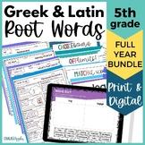 Morphology Word Study BUNDLE - Growing Vocabulary Roots