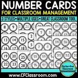 BLACKLINE DESIGN- NUMBER CARDS for CLASSROOM MANAGEMENT