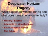 BP Deepwater Horizon Tragedy Oil Spill PowerPoint