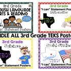 """BUNDLE ALL 3rd Grade TEKS """"I can"""" Statement Posters"""