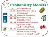 BUNDLE *** FCP, Perm, Comb, & Probability Models Lessons &
