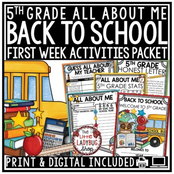 Back To School {5th Grade- NO PREP}