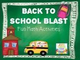 Back To School Blast {First Grade Math Unit}
