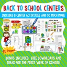 Back To School Centers, Word Work, and Activities BUNDLE!
