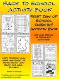 Back To School Desktop Activity Books! Foldable or Cut and