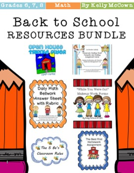 Back To School RESOURCES BUNDLE