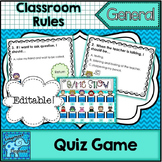 """Back To School Rules!"" The Game Show Game {Editable}"
