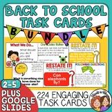 Back To School Task Card Bundle: 180 Task Cards!