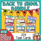 Back To School Task Card Bundle: 180 Task Cards!