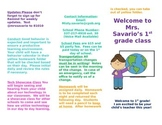 Back To School or Open House Editable Brochure