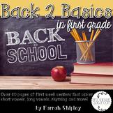 Back to Basics--1st Grade Back to School Stations