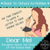 Back to School Activities - Dear Me!