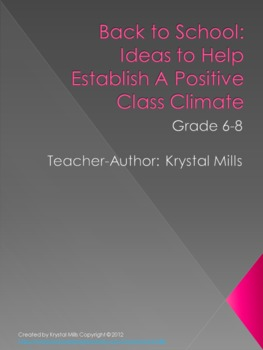 Back to School Activities: Ideas to Build a Positive Class