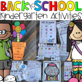 Back to School Activities (Math, Literacy and Crafts) for
