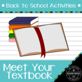 Back to School Activities - Meet Your Textbook