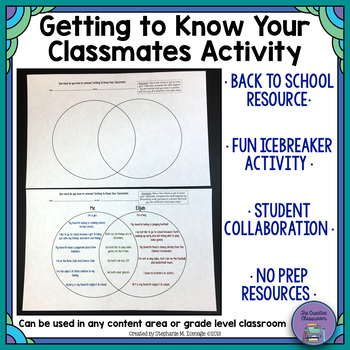 Back to School Activity-Getting to Know Your Classmate