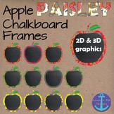 Back to School Apple Paisley (Vera Bradley Style) Chalkboa