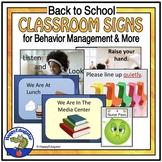 Back to School Behavior Management - Behavior Signs