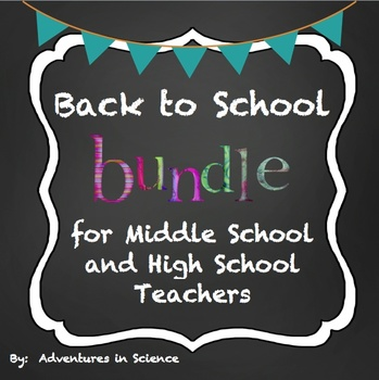 Back to School Bundle for Middle School & High School Teachers {Fully Editable!}