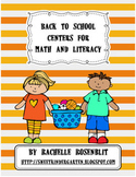 Back to School Centers for Math and Literacy