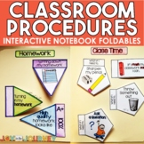 Back to School Class Procedures Interactive Notebook Foldables