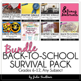 Back to School Survival Kit Planning, Forms, Icebreakers,
