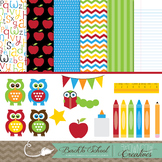 Back to School Clipart and Background Pack