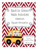 Back to School - Common Core Activities
