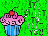 Back to School Cupcake Sweet to Meet activity