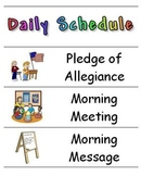 Back to School - Daily Schedule Cards