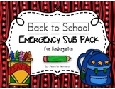 Back to School Emergency Sub Pack
