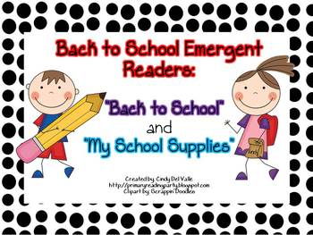 """Back to School Emergent Readers: """"Back to School"""" & """"My Sc"""