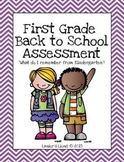Back to School: First Grade Assessment