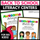Back to School Fun {Literacy Centers for Big Kids}