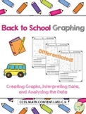 Back to School Graphing {CCSS Aligned & Differentiated!}