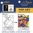 Meet and Teach Apple Interactive Coloring Freebie