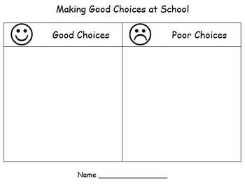 Back to School - Making Good Choices
