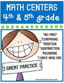 Test Prep Math Centers {4th & 5th Grade} CC